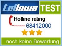 tellows Bewertung 68412000
